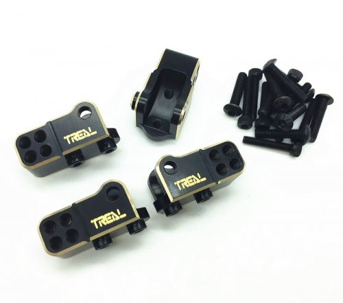 Treal Brass Front and Rear Lower Shock Suspension Link Mounts 4p for Ele ment Enduro RC